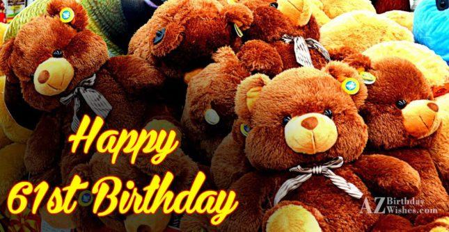 61st Birthday Wishes - AZBirthdayWishes.com
