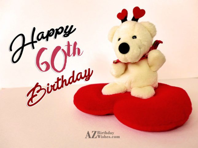 A very happy 60th birthday… - AZBirthdayWishes.com