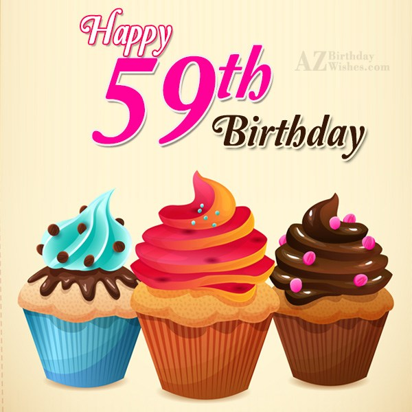 A very happy 59th birthday… - AZBirthdayWishes.com