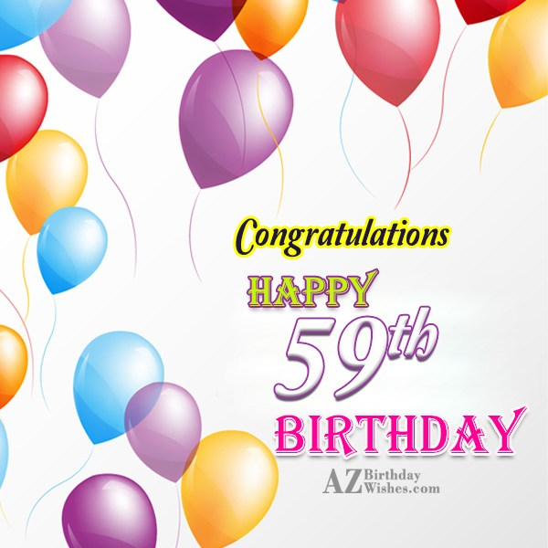 59th birthday greetings… - AZBirthdayWishes.com