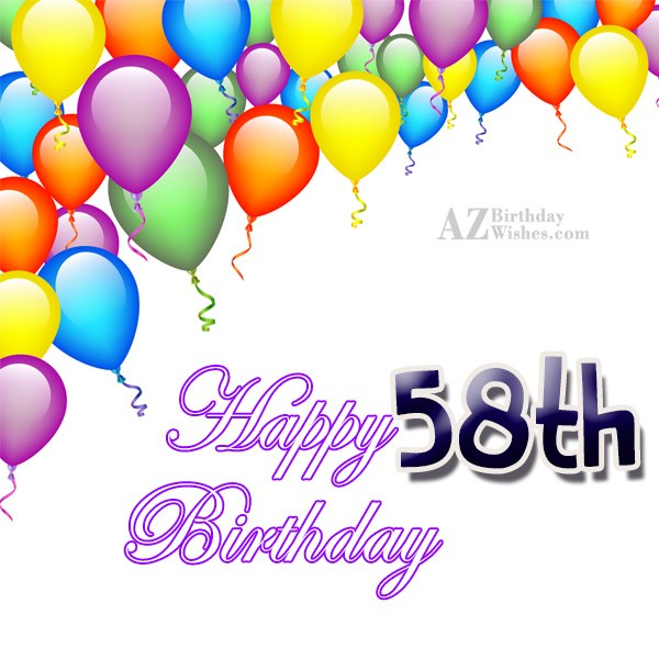 A very happy 58th birthday… - AZBirthdayWishes.com