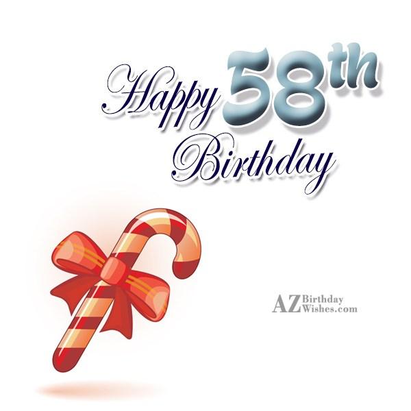 58th birthday greetings… - AZBirthdayWishes.com