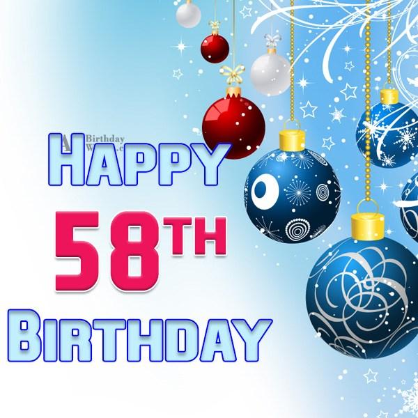 Wishing a very happy 58th birthday… - AZBirthdayWishes.com