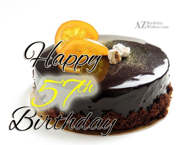57th Birthday Wishes - AZBirthdayWishes.com