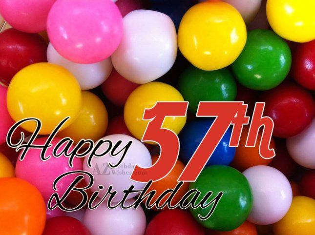 A very happy 57th birthday… - AZBirthdayWishes.com