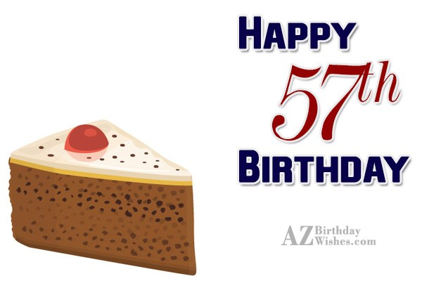 57th birthday greetings… - AZBirthdayWishes.com