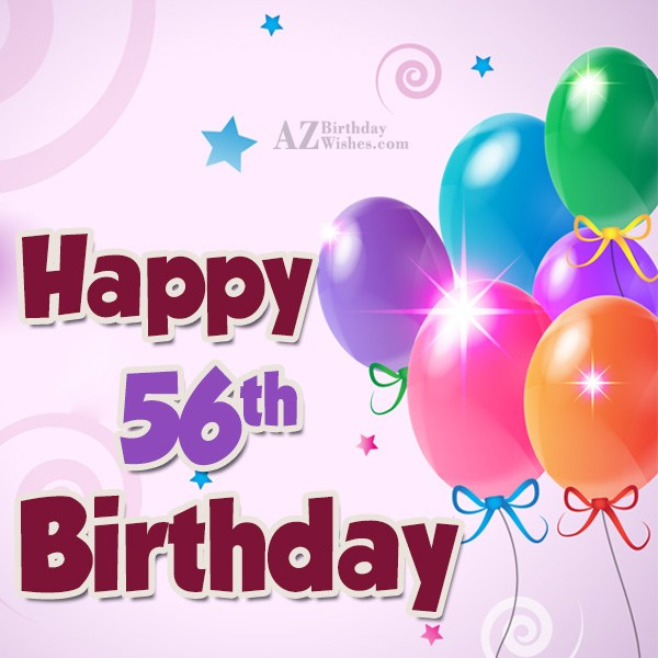 56th birthday greetings… - AZBirthdayWishes.com
