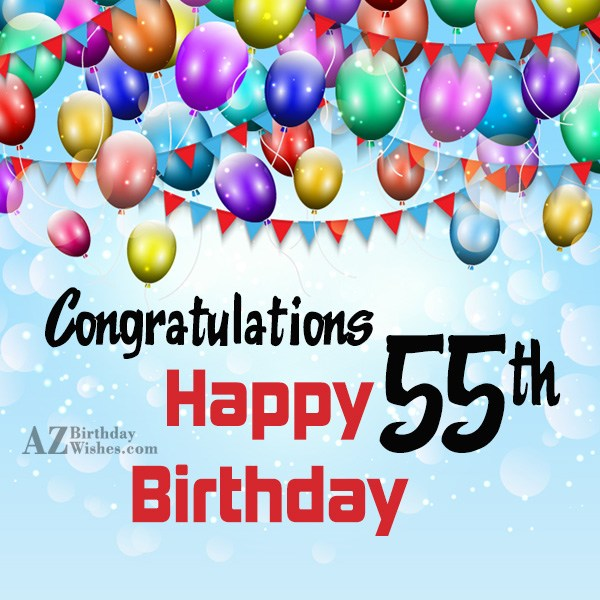 55th birthday greetings… - AZBirthdayWishes.com