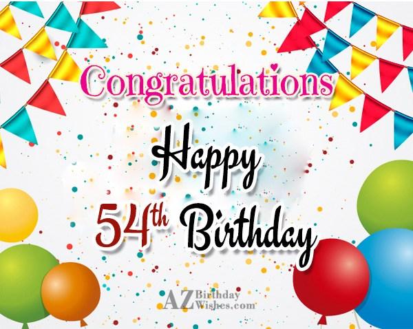 54th birthday greetings… - AZBirthdayWishes.com