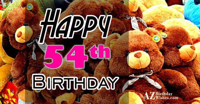 A very happy 54th birthday… - AZBirthdayWishes.com