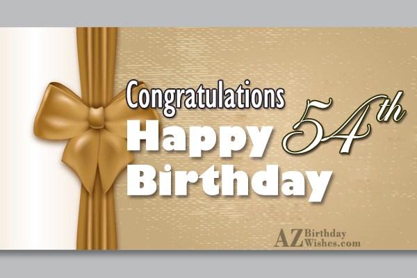 54th Birthday Wishes - AZBirthdayWishes.com