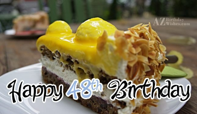 A very happy 48th birthday… - AZBirthdayWishes.com