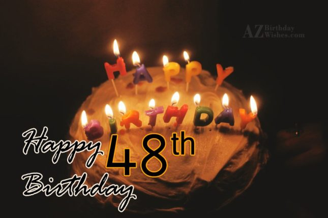 48th birthday wishes… - AZBirthdayWishes.com