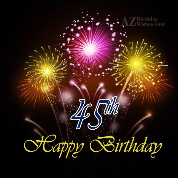 45th birthday wishes… - AZBirthdayWishes.com