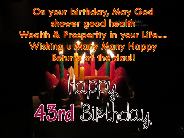 43rd birthday wishes… - AZBirthdayWishes.com