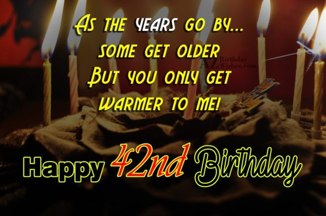 42nd birthday wishes… - AZBirthdayWishes.com