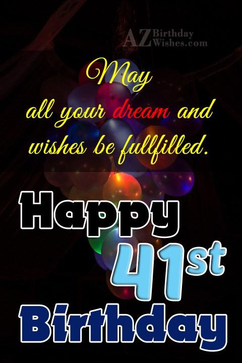41st birthday wishes… - AZBirthdayWishes.com