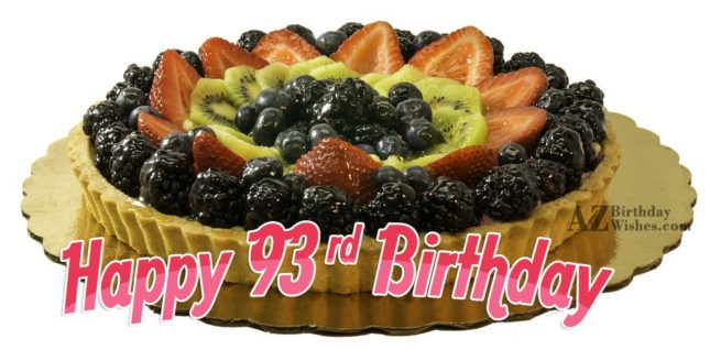 93rd birthday greetings… - AZBirthdayWishes.com