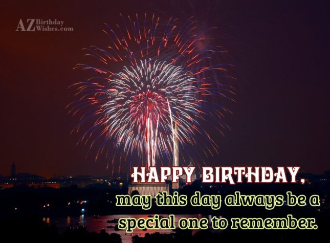 May this day always… - AZBirthdayWishes.com
