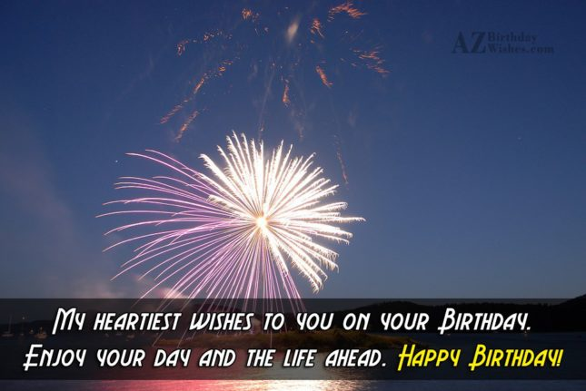 My heartiest wishes… - AZBirthdayWishes.com