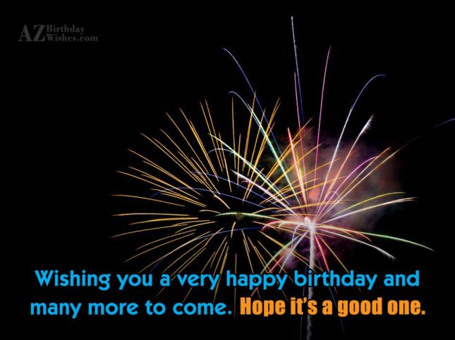 Wishing you a very happy birthday… - AZBirthdayWishes.com
