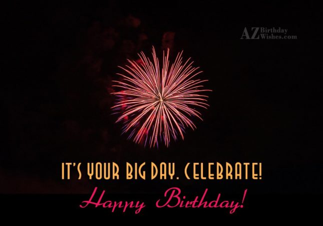 Celebrate, Happy Birthday… - AZBirthdayWishes.com