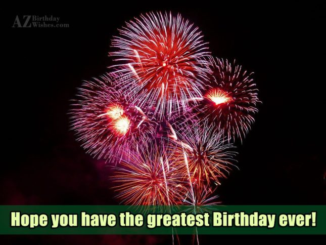 Hope you have the greatest birthdays… - AZBirthdayWishes.com