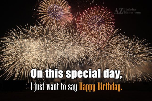 On this special day… - AZBirthdayWishes.com
