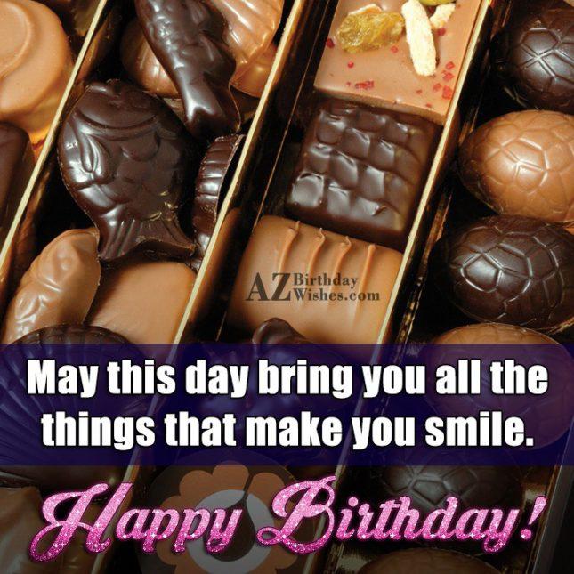 Birthday greetings on Dark and light chocolate… - AZBirthdayWishes.com
