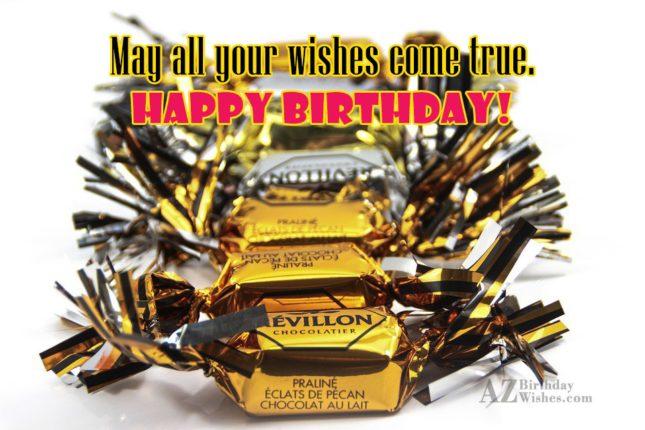 Birthday greeting on chocolate candies… - AZBirthdayWishes.com