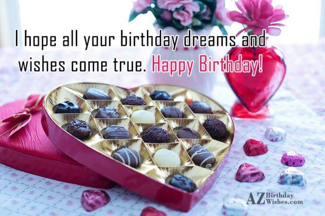 Birthday wish to someone you love on a box of chocolates… - AZBirthdayWishes.com