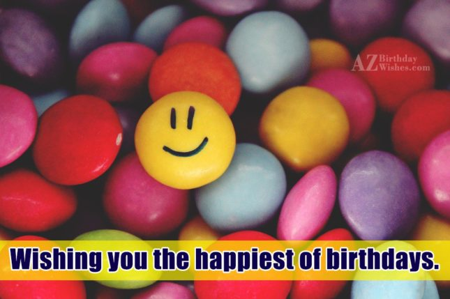 Birthday wish on M&M's… - AZBirthdayWishes.com