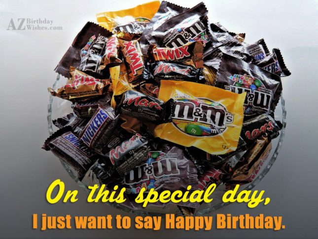 Birthday wish on M&M candies… - AZBirthdayWishes.com