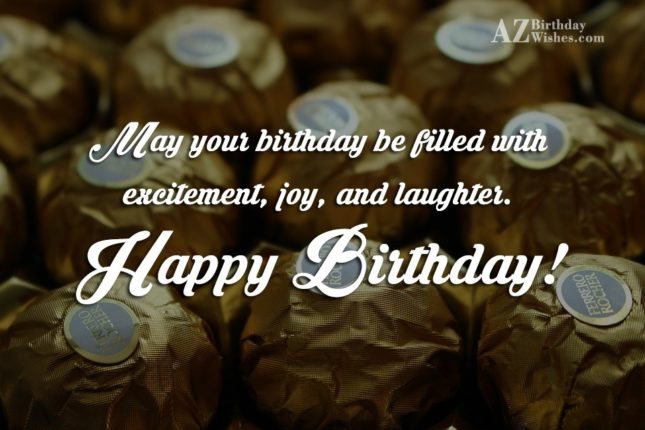 Birthday wishes on Ferrero Rochers… - AZBirthdayWishes.com