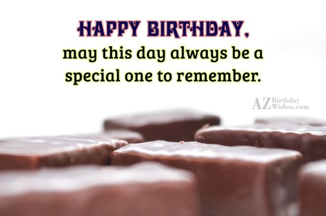 Birthday wishes with chocolate bars… - AZBirthdayWishes.com