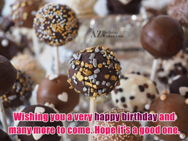 Wishing happy birthday with chocolate lollypop… - AZBirthdayWishes.com