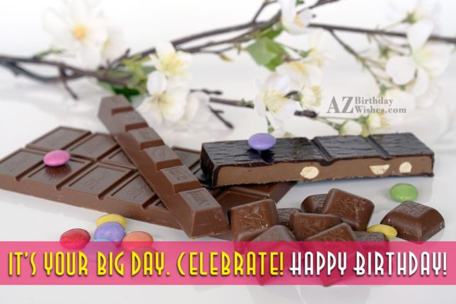 Happy birthday on Chocolate bars… - AZBirthdayWishes.com