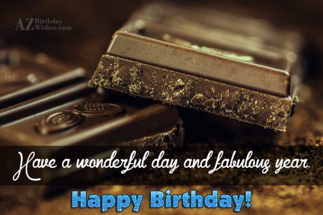 Birthday wish on dark chocolate… - AZBirthdayWishes.com
