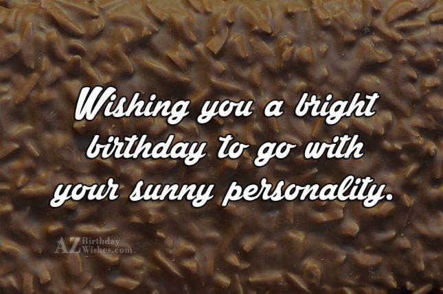 Wishing bright birthday on a nuts bar… - AZBirthdayWishes.com