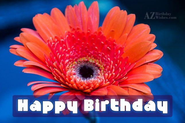 Happy birthday with lily background… - AZBirthdayWishes.com