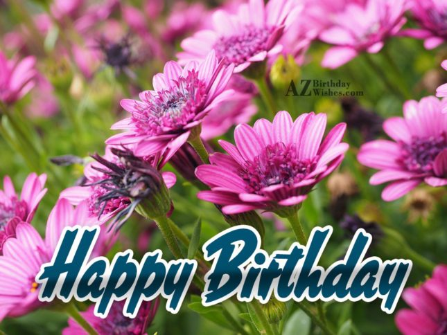 Birthday wish with lily background… - AZBirthdayWishes.com