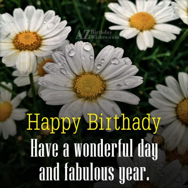 Happy birthday on white lilies… - AZBirthdayWishes.com