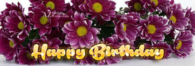 Happy birthday on Pink lilies… - AZBirthdayWishes.com