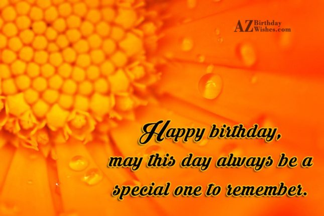 Birthday greeting on an orange lily… - AZBirthdayWishes.com