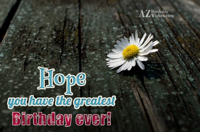 Have a great birthday… - AZBirthdayWishes.com