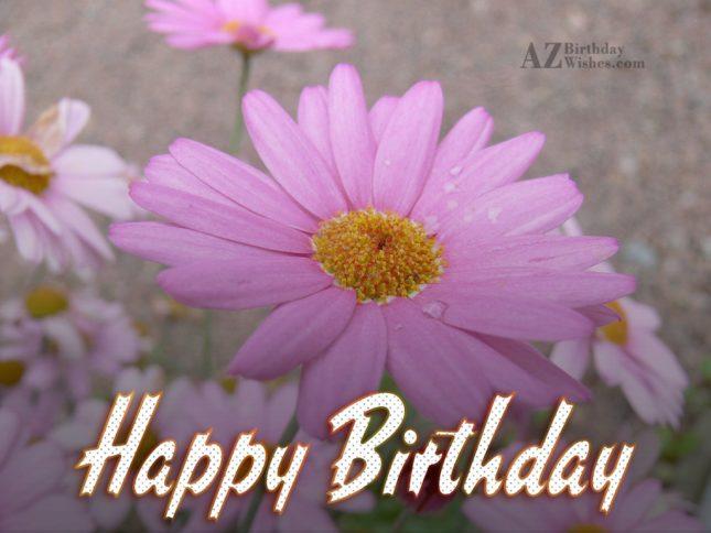 Birthday wish on Pink lily… - AZBirthdayWishes.com