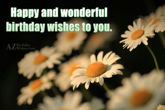 Happy wishes on birthday… - AZBirthdayWishes.com