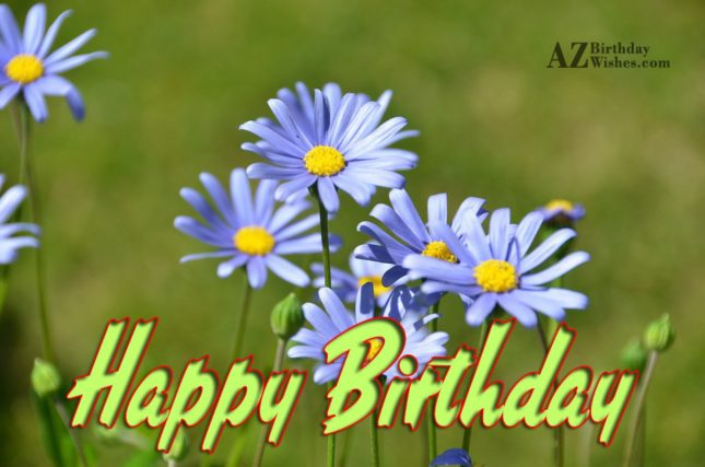 Birthday wishes on purple Lilies… - AZBirthdayWishes.com
