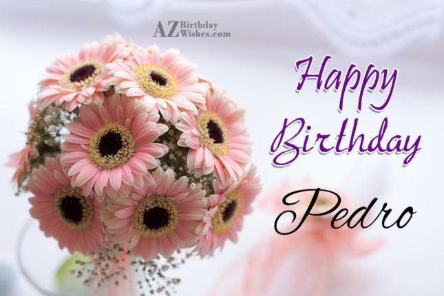 Happy Birthday Pedro - AZBirthdayWishes.com