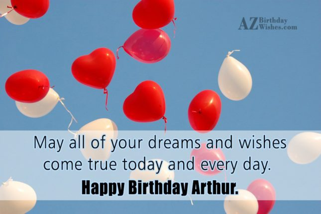 Happy Birthday Arthur - AZBirthdayWishes.com